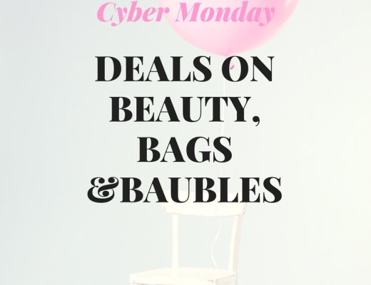 blogger Anna Monteiro of blushing rosestyle selects best cyber monday sales on beauty, jewelry and handbags