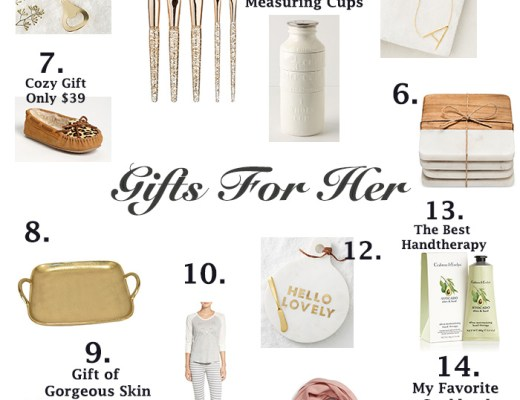 holiday gift ideas for her all under $50 created by style blogger Anna Monteiro of Blushing Rose Style