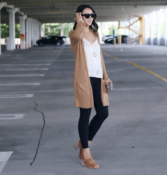 FASHION BLOGGER ANNA MONTEIRO OF BLUSHING ROSE STYLE WEARING BP. RIBBED CARDIGAN FROM NORDSTROM ANNIVERSARY SALE 2017