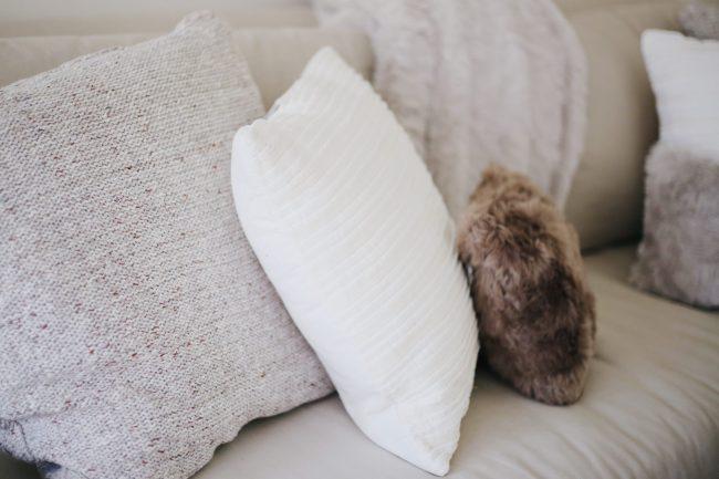 holiday home decor, cozy pillows, cozy home