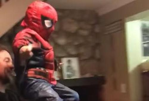 1 Cute Video Of A Small Kid Dressed As The Spider Man 1