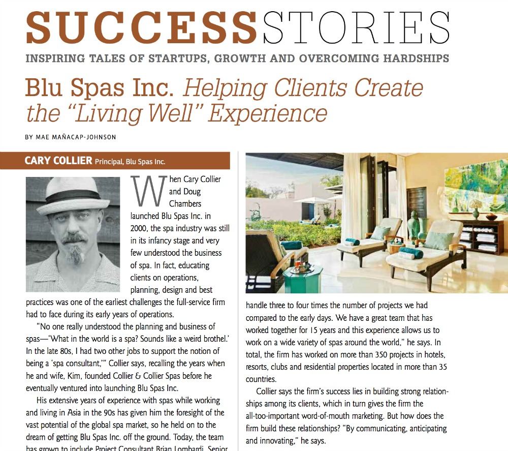 International Spa Association Success Stories Blu Spas