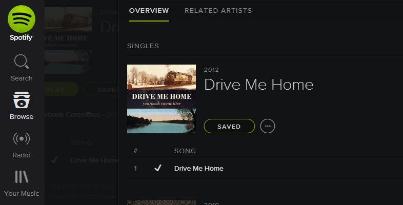 Spotify - Drive Me Home