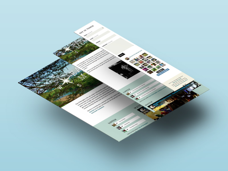 The responsive website design reacts to whatever screen size it's viewed on, from desktops to smart phones. So anybody can catch up with East of Memphis from anywhere.