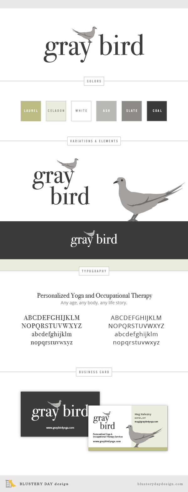 Gray Bird Yoga Mood Board
