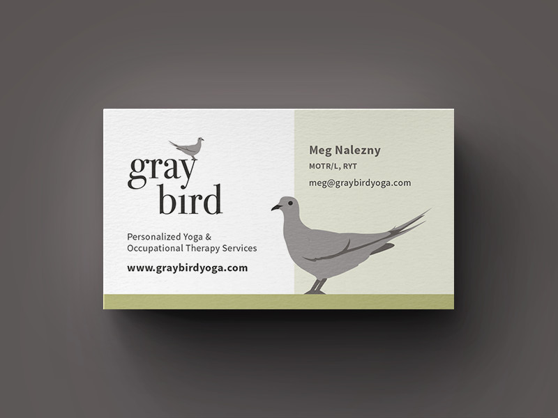 Gray Bird Business Card