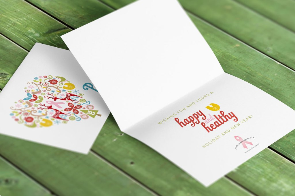 The interior of the card continues the color scheme and pulls elements from the front graphic in as well.