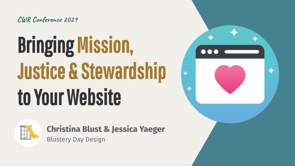 Bringing Mission, Justice, & Stewardship to Your Website