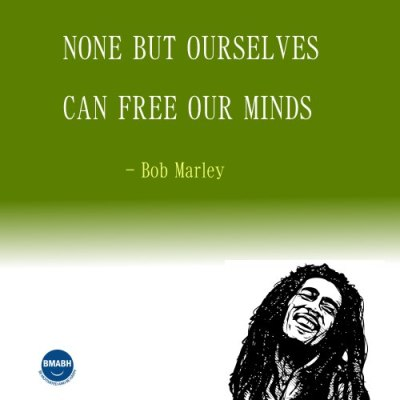 Bob Marley picture quotes-None but ourselves can free our minds