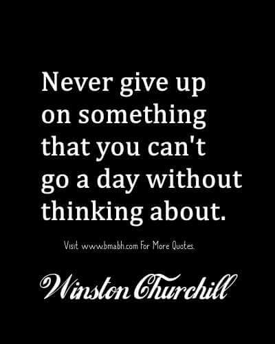 Famous Never Give Up Quotes