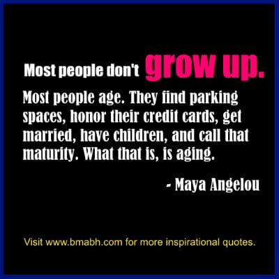 Growing Up Quotes-Most people don't grow up. Most people age.