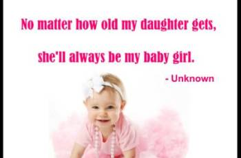Mother Daughter Quotes-No matter how old my daughter gets, she'll always be my baby girl