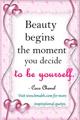 Quotes About Being Yourself-Beauty begins the moment you decide to be yourself