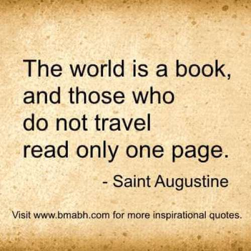 Travel Quotes And Sayings images-The world is a book, and those who do not travel read only one page.