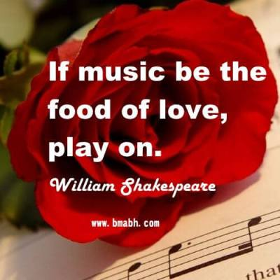 Famous William Shakespeare Quotes about love and music
