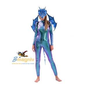 כנפיים דרקון קטנות כחול עשויים מחומר איכותי וקל PU