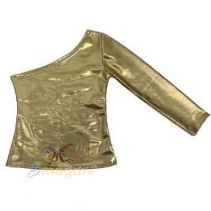 בגד גוף ואן שולדר זהב מבריק ילדות