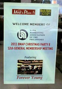 December 2011 General Membership Meeting and Christmas Party