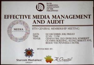 November 2011 General Membership Meeting
