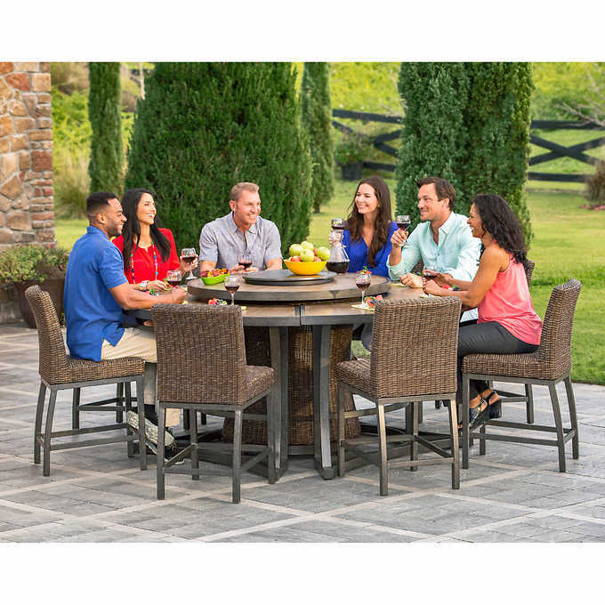 Agio Brentwood 11 Piece High Dining Set With Firetable My Online Store Dba Expo Int L