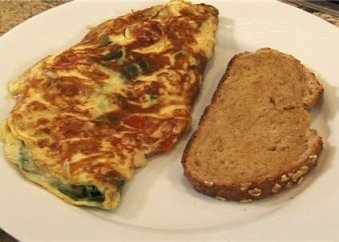 BS_spinach, tomato cheese omelet