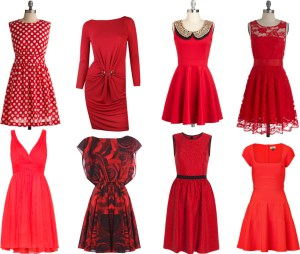 red dress breakfast
