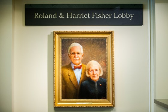 roland and harriet fisher lobby