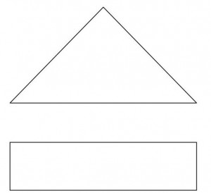 triangle with bottom