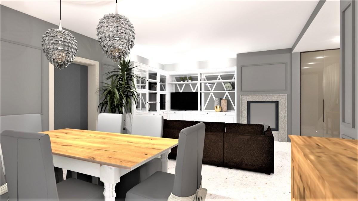 Restyling di un soggiorno classico