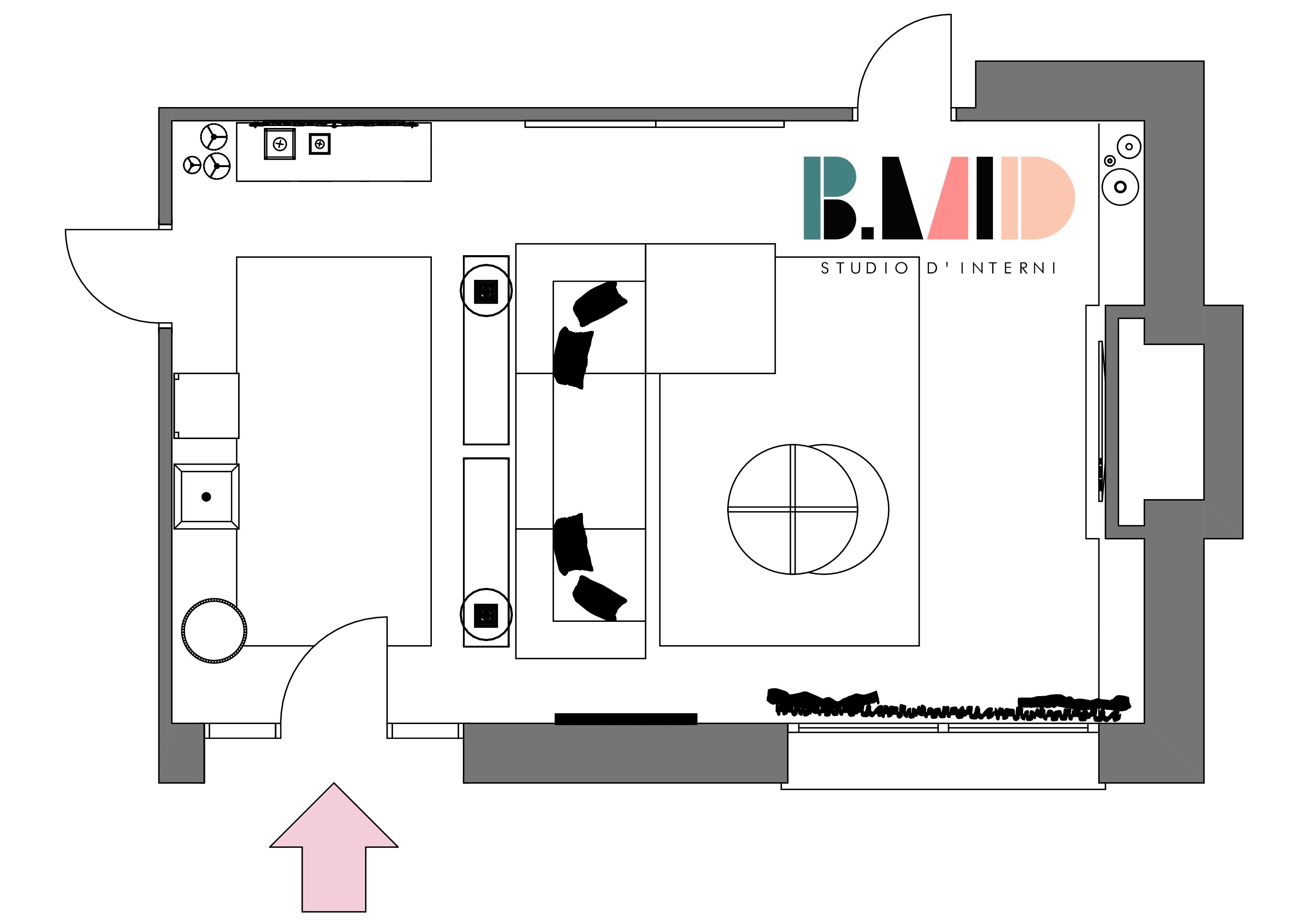 Progetto di un salotto contemporaneo