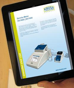 PDF brochure on an iPad