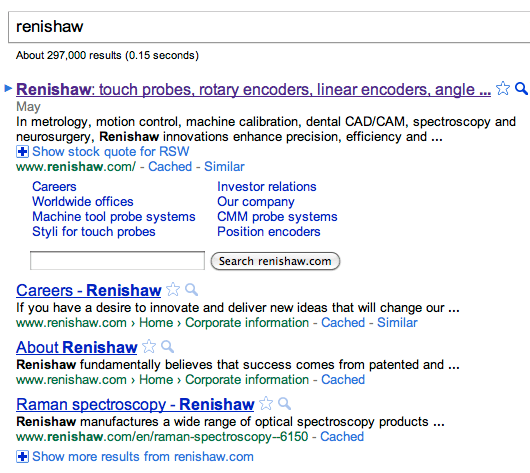 Renishaw on Google