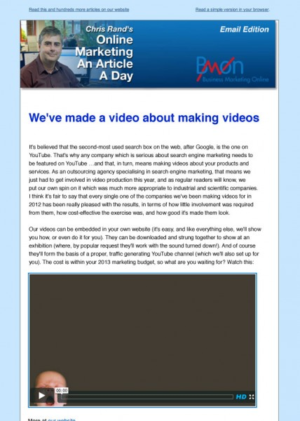 Best practice for embedding videos in emails?