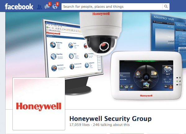 Honeywell Facebook page