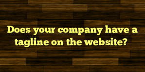 Does your company have a tagline on the website?