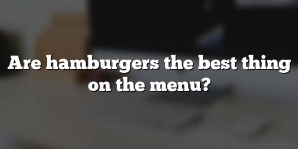 Are hamburgers the best thing on the menu?