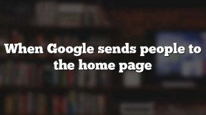 When Google sends people to the home page
