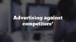 Advertising against competitors'