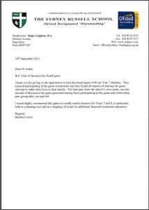 Sydney R Sec Sch testimonial