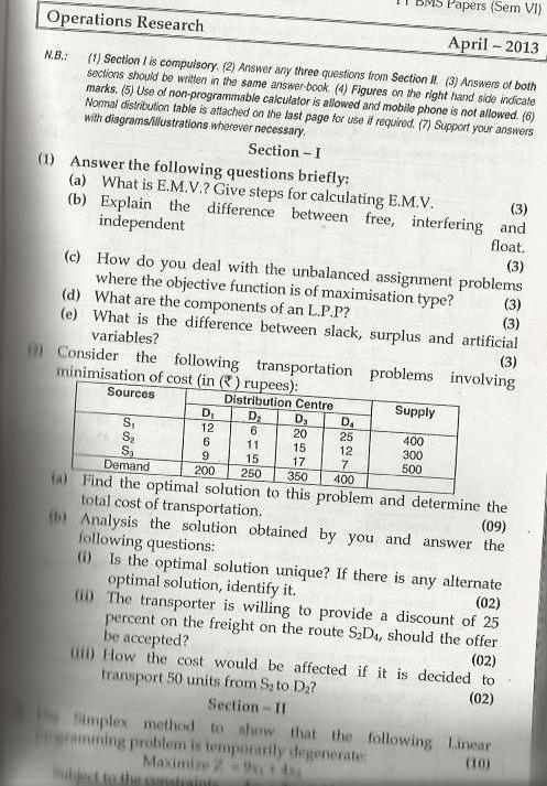 applied operational research question paper Business research paper topics  problems and questions for a topic dealing with a case study  - real world operations management research paper delves into an.
