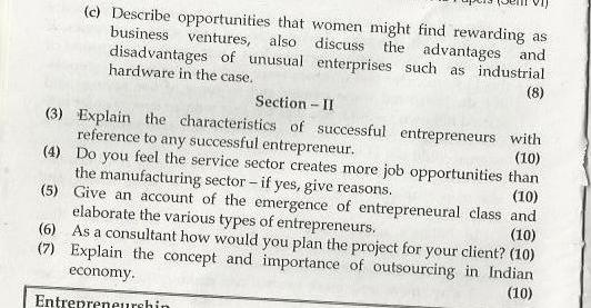 Entrepreneurship Management Mumbai University April 2003