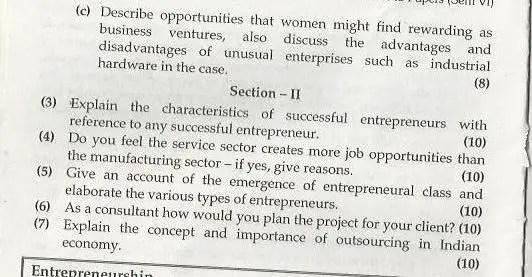 Entrepreneurship Management Mumbai University April 2003