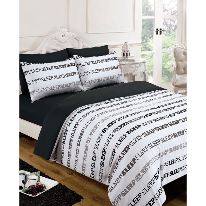Sleep Text Complete Bed Set King Size Bedding B Amp M