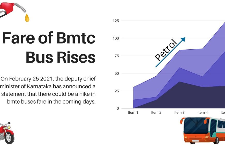 Fare of Bmtc bus rises due to Petrol makes its first century.