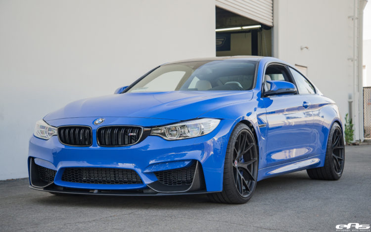 Photos F82 M4 With M Performance Parts In Santorini Blue And Hre Wheels Bmw Sg Bmw