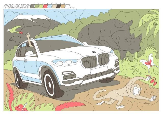 BMW X5のぬりえBMWコロナ