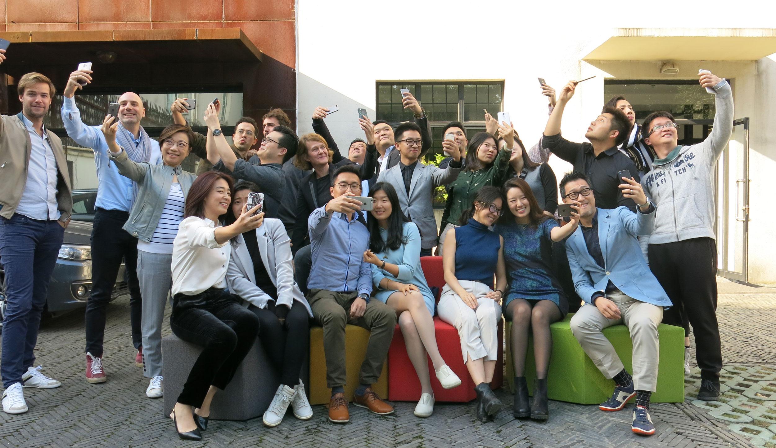 funny team image of designworks studio shanghai