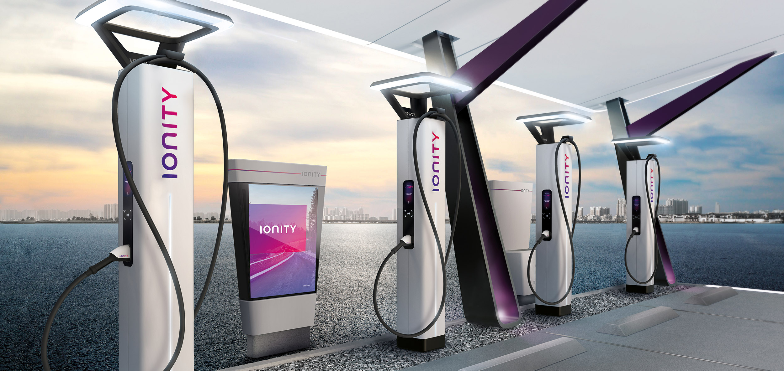 ionity charging station with four chargers