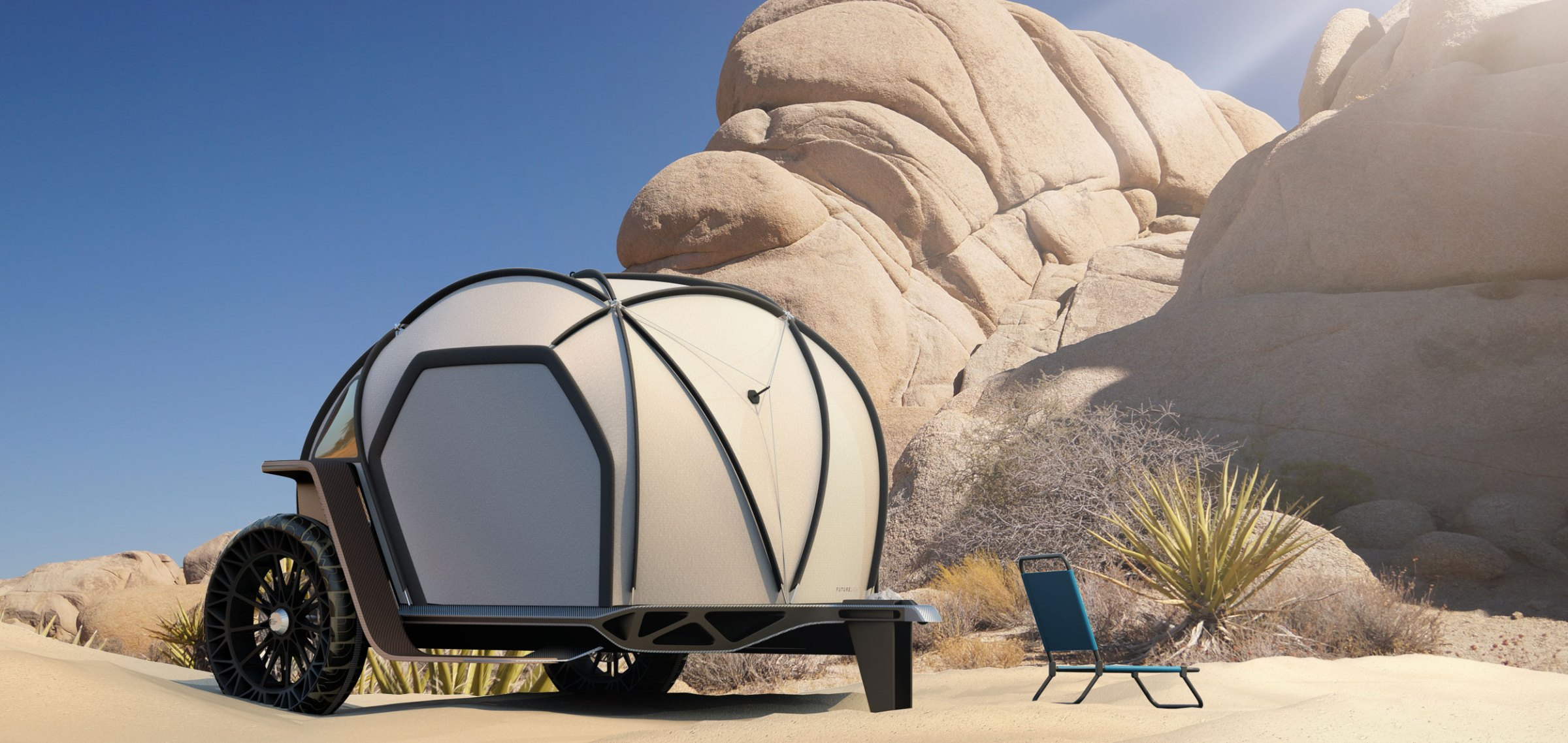 north face camper in joshua tree nationalpark