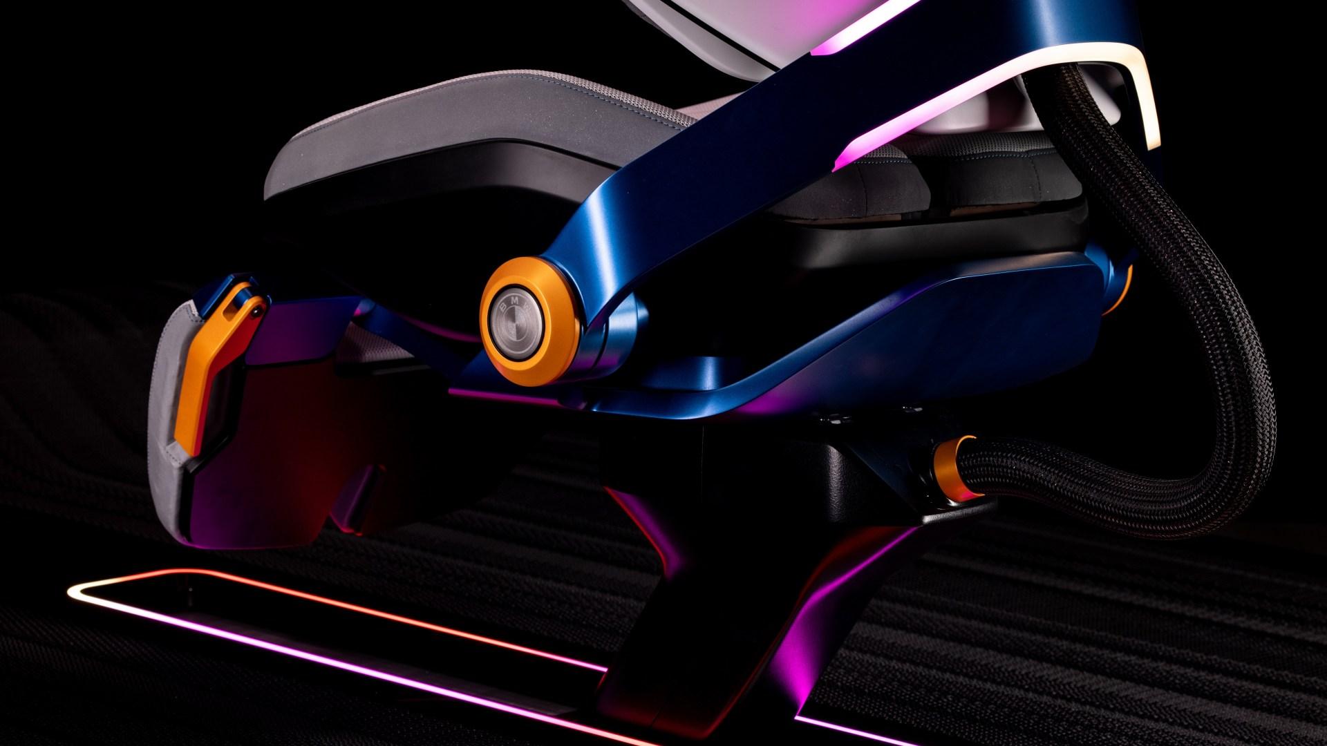 Detail shot of gaming chair.